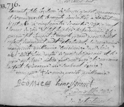 Source: acte de naissance de Laurent GRAVET Registre BMS de Robelmont 1717-1796 Paroisse Saint Martin - Archives de l'Etat à Arlon